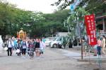 神崎神社を出発します