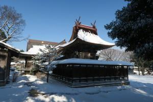 雪を被った御本殿1