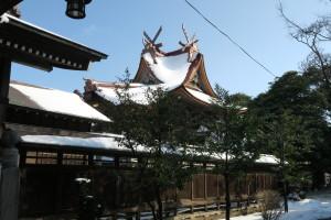 雪を被った御本殿3