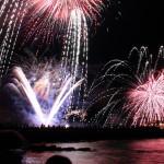 間近に上がる花火に、歓声が上がる会場